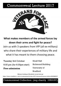 Commonweal Lecture 2017 - Veterans for Peace