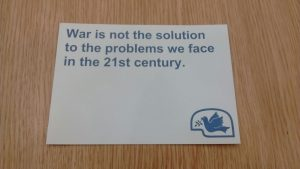 War is not the solution