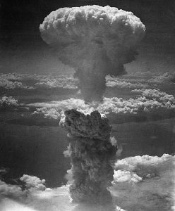 Mushroom cloud over Nagasaki. Source: https://commons.wikimedia.org/wiki/File:Hiroshima-Nagasaki.jpg