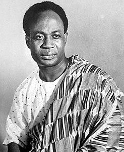 Kwame Nkrumah, the first president of Ghana. Source: https://en.wikipedia.org/wiki/File:Kwame_nkrumah.jpg