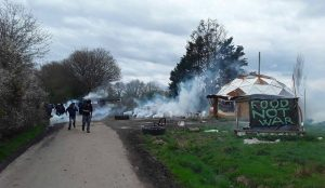 Evictions at la ZAD. Image credit: James Brady