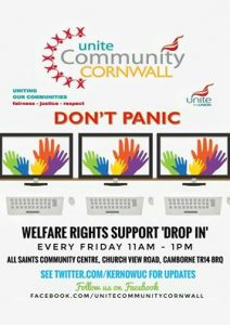 Unite Community Cornwall drop-in