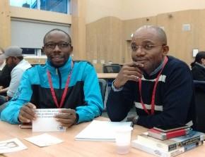 Ezekiel and Jean-Baptiste, Peace Studies MA students from Burundi