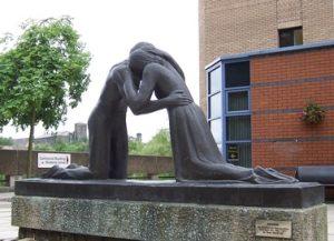 Reconciliation statue, University of Bradford
