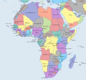 Map of Africa. Source: https://mapswire.com/africa/political-maps/