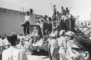 Coup supporters celebrate victory in Tehran, 1953. By Unknown. Source: http://www.aryamehr.org/eng/19august/28mordad.htm, Public Domain, https://commons.wikimedia.org/w/index.php?curid=7431692