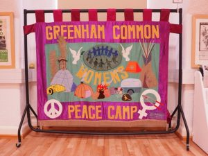 Greenham banner at the Peace Museum, Bradford