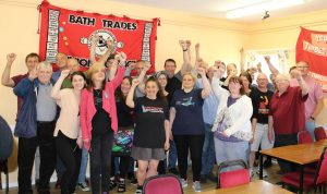 Zoe Fox plus members of Unite Community Cornwall